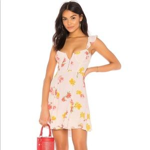 ASTR blush floral babydoll dress